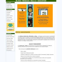 Weblogs, Réseaux, Blogs Education, Web 2.0, Classe, Apprentissage, FLE