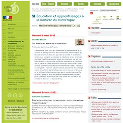 Éducation et apprentissages à la lumière du numérique - rubrique 'Les Mercredis de Créteil' de 'Enseignementset formations'