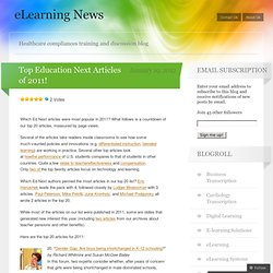 Top Education Next Articles of 2011!