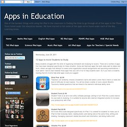 12 Apps to Assist Students to Study