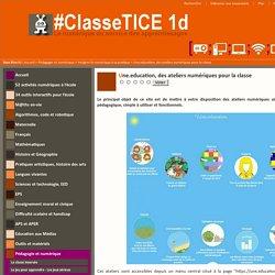 Une.education, des ateliers numériques pour la classe