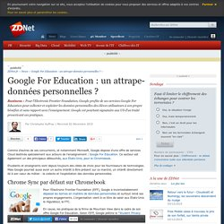 Google For Education : un attrape-données personnelles ?