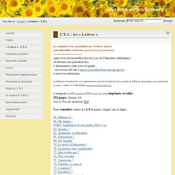L'EA : les « Lettres »