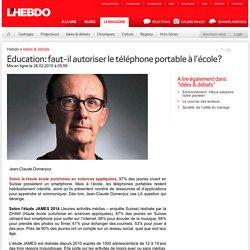 Education: faut-il autoriser le téléphone portable à l'école?