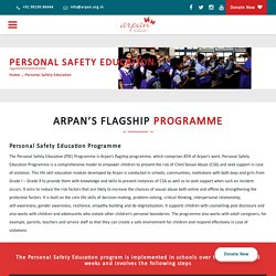 Personal safety education programme towards Child sexual abuse.