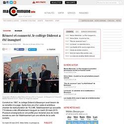 Education, Besançon : Rénové et connecté, le collège Diderot a été inauguré actualité Besançon Franche-Comté