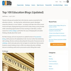 Top 100 Education Blogs (Updated)