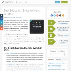 Best Education Blogs to Watch in 2015