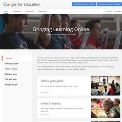 Google for Education: Bringing Learning Online