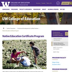 Native Education Certificate Program
