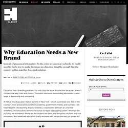Why Education Needs a New Brand
