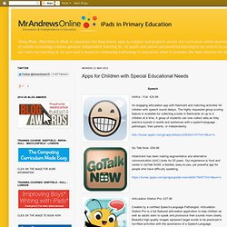 Apps for Children with Special Educational Needs
