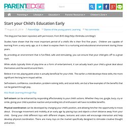 Early education in young children