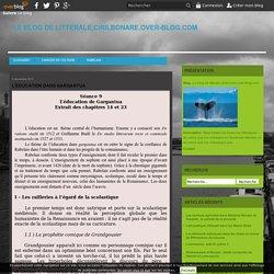 L'éducation dans Gargantua - Le blog de litterale.cirilbonare.over-blog.com