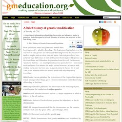 GM Education - citizens concerned about GM. Making sense of science and evidence