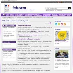 CESC - Textes de référence