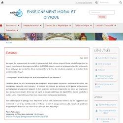 Enseignement moral et civique 1er degré - Académie de Paris
