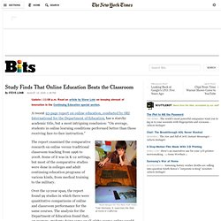 Study Finds That Online Education Beats the Classroom
