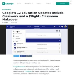 Google's 12 Education Updates Include Classwork and a (Slight) Classroom Makeover