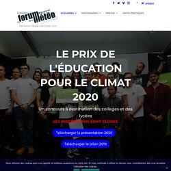 Prix de l'Education pour le climat 2020 - Forum International de la Météo et du Climat