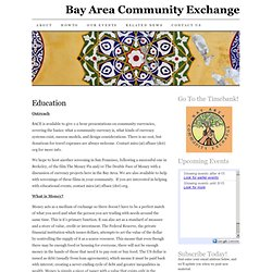 Education – Bay Area Community Exchange