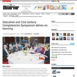 Education and 21st century Competencies Symposium delves on learning