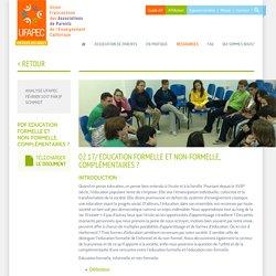 02.17/ Education formelle et non-formelle, complémentaires?