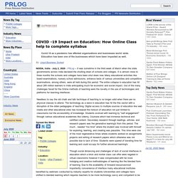 COVID -19 Impact on Education: How Online Class help to complete syllabus