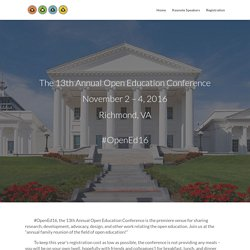 13th Annual Open Education Conference