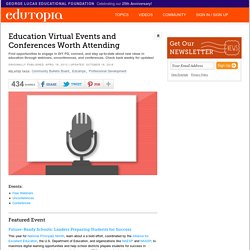 Education Virtual Events and Conferences Worth Attending