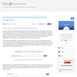 Google for Education: Connecting K-12 Educators to Computer Science Education through Search