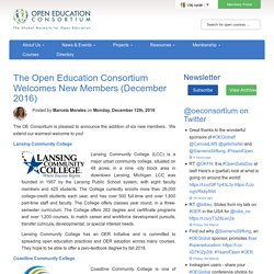 The Open Education Consortium Welcomes New Members (December 2016)