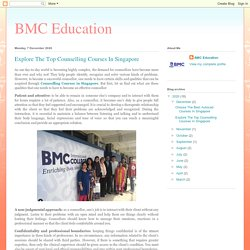 BMC Education: Explore The Top Counselling Courses In Singapore