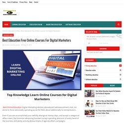 Best Education Free Online Courses For Digital Marketers