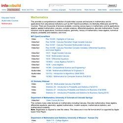 Audio/video Courses - Mathematics