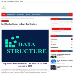 Best Education Courses For Learn Data Structures