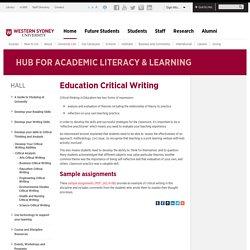 Education Critical Writing