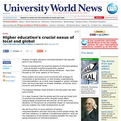 Higher education's crucial nexus of local and global