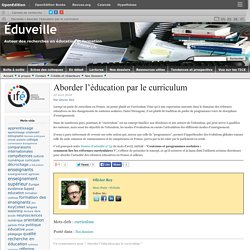 Aborder l'éducation par le curriculum