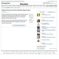 U.S. Education Department Finds Salary Gap in Poor Schools