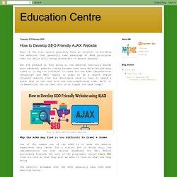 How to Develop SEO Friendly AJAX Website