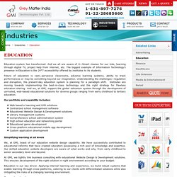 Education Industry web design and development solutions - GMI