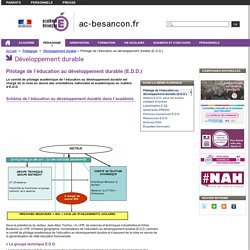 Pilotage de l'éducation au développement durable (E.D.D.) - Rectorat de l'académie de Besançon - E.D.D.