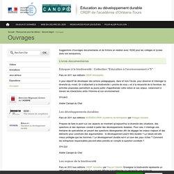 Éducation au développement durable-Ouvrages