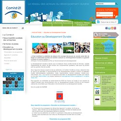 COMITE21 Education au Développement Durable