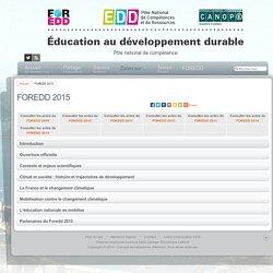 Éducation au développement durable - FOREDD 2015