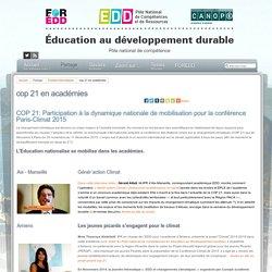 Éducation au développement durable - cop 21 en académies