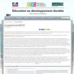 Éducation au développement durable - Le point sur la COP 21