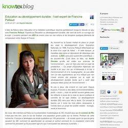 Education au développement durable : l'oeil expert de Francine Pellaud