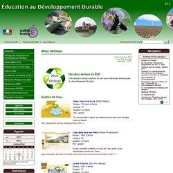 Jeux sérieux - Éducation au Développement Durable (EDD)